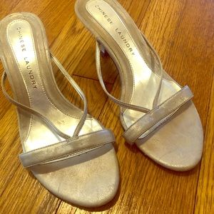 Chinese Laundry Silver leather Sandals